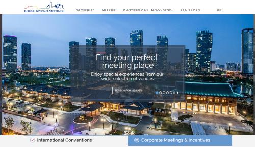 Korea MICE Bureau new website