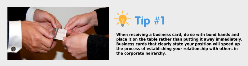Korean Business Etiquette Tip #1