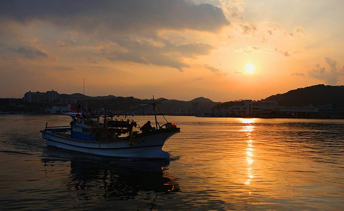 Sunset at Guryongpo Beach
